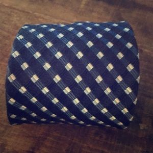 CANALI Blue & White Silk Patterned Tie